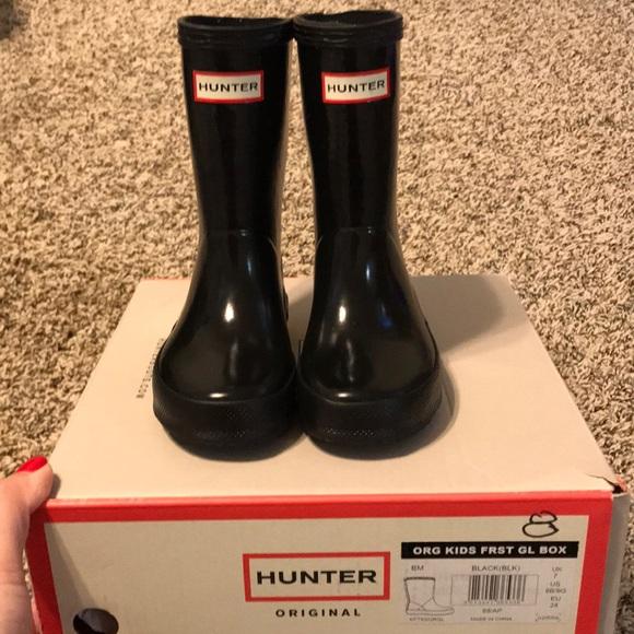 Black Toddler Girl Hunter Rain Boots Sz 8us